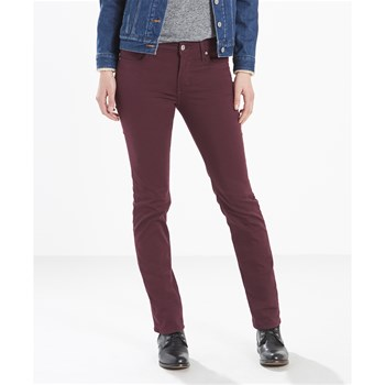 712 - Jean slim - bordeaux