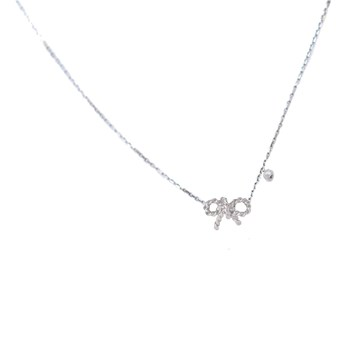 For ever - Collier en or blanc - argent