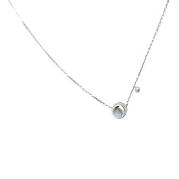 In the air - Collier en or serti de diamant - argent
