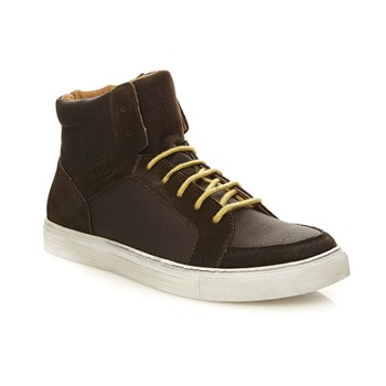 Sneakers en cuir - marron