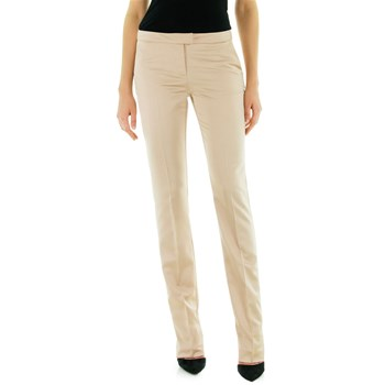 Pantalon slim en satin - rose