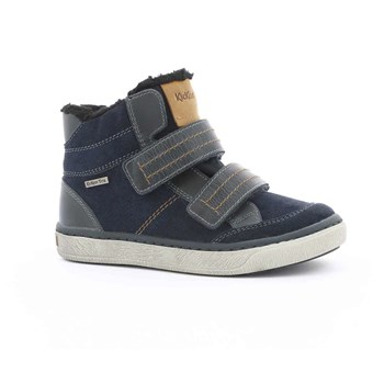 Moscoute WPF - High Sneakers aus Leder - marineblau