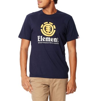 Vertical - Kurzärmeliges T-Shirt - marineblau