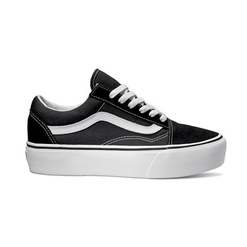 UA Old Skool Platform - Baskets en cuir - noir