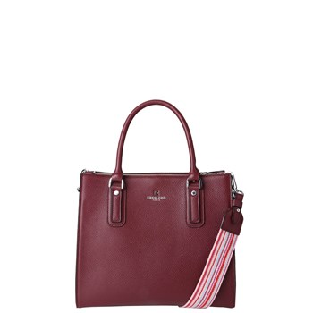 Mila country - Sac cabas en cuir - bordeaux