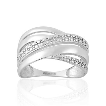 Cleor - Bague en or blanc ornée de diamants