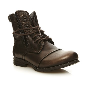 Zip - Boots en cuir - marron