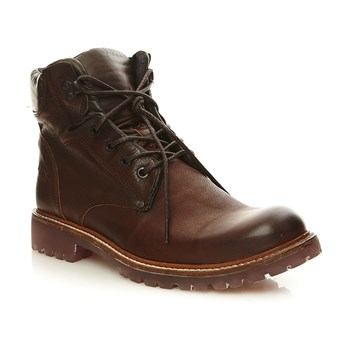 Riot - Bottines en cuir - tabac