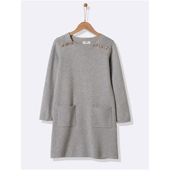 Robe interlock - gris clair