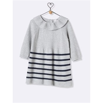 Robe colerette - gris chine