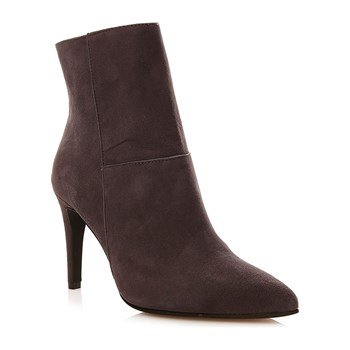 Bottines bout pointu en cuir - gris