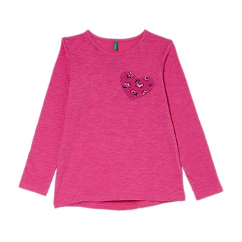 T-shirt manches longues - rose