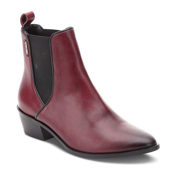 Dina - Bottines en cuir - rouge