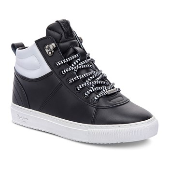 Marion collar - Sneakers in pelle - nero