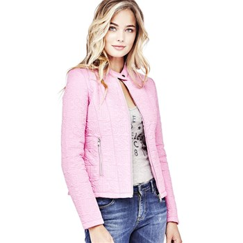 Veste logo brodé all-over - rose