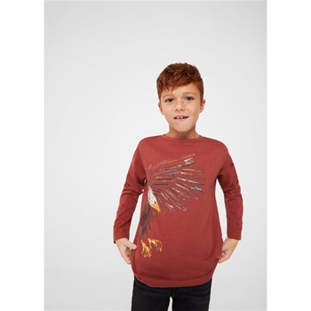 T-shirt imprimé animal - brique