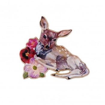Petit faon - Broche - multicolore