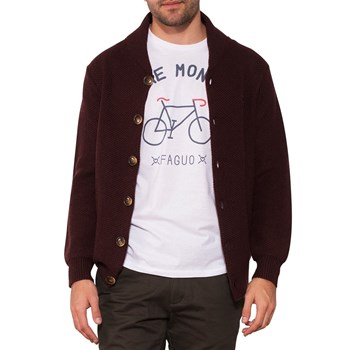 Sweatshawl - Cardigan - bordeaux