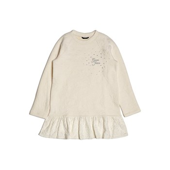 Robe mini paillettes - blanc