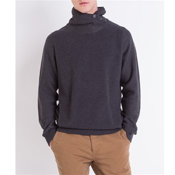 Pull col montant - bleu