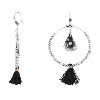 Indian Summer - Boucles d'oreille pendantes - noir