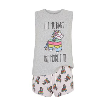 Newprojectiz Pinatiz - Ensemble t-shirt et short - gris chine