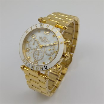 Diamstars - Angela - Reloj con diamantes - dorado