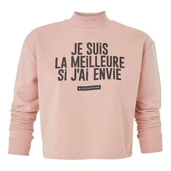 Coudiz Cartoniz - Sweat-shirt - vieux rose