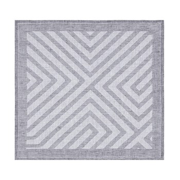 Labyrinthe - Serviette de table en lin - gris