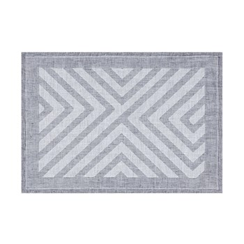 Labyrinthe - Set de table en lin - gris