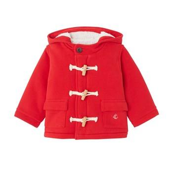 Duffle coat en molleton - rouge