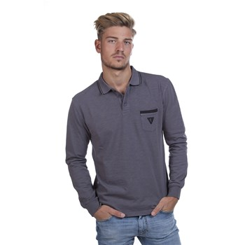 Polo manches longues - gris