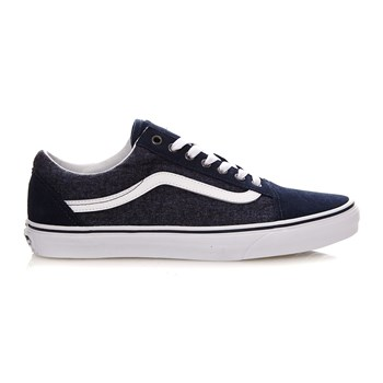 UA Old Skool - Baskets en cuir - bleu marine