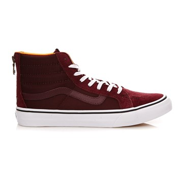 UA SK8-Hi Slim Zip - Baskets en cuir - bordeaux