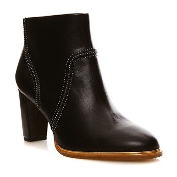 Ellis Betty Black leather - Bottines en cuir - denim noir