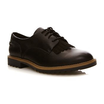 Griffin Mabel Black Leather - Derbies en cuir - denim noir