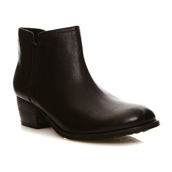 Maypearl Ramie Black Leather - Bottines en cuir - denim noir
