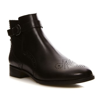 Netley Olivia Black Leather - Bottines en cuir - denim noir