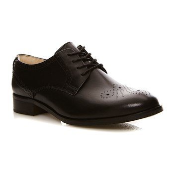 Netley Rose Black Leather - Zapatos de cuero - negro