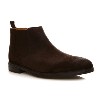 Chilver Top Dark Brown Suede - Bottines en cuir - brun