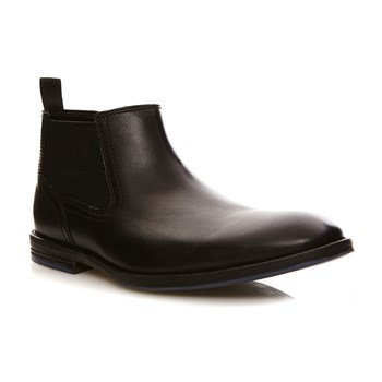 Prangley Top Black Leather - Bottines en cuir - denim noir