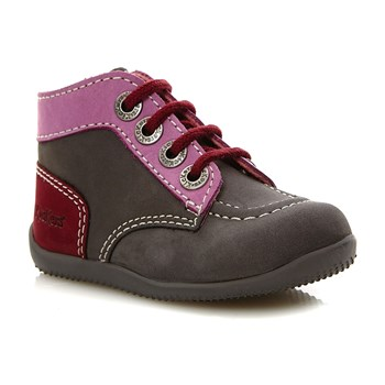 Bonbon - High Sneakers aus Leder - rosa