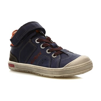 Iguane - High Sneakers aus Leder - marineblau