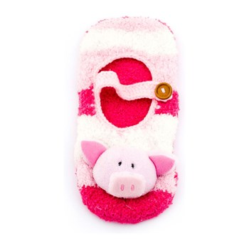 Family Pyjama - Chaussons ballerines en bouclettes - rose