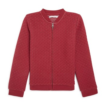 Cardigan en molleton - rouge