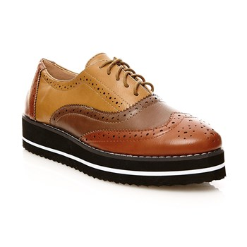 Zapatos Oxford - camel
