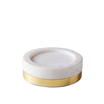 Marble - Support de bougie - blanc