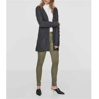 Vero Moda - NO NAME - Lange Strickjacke - dunkelgrau