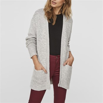 Vero Moda - NO NAME - Strickjacke - hellgrau
