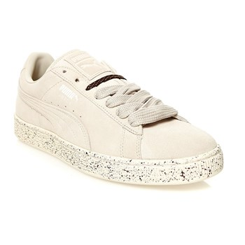 Sneakers in pelle scamosciata - bianco